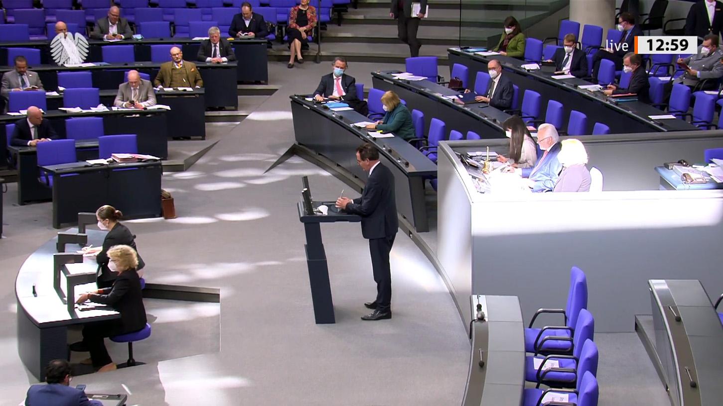 Standbild aus dem Video der Rede von Minister Müller vor dem Deutschen Bundestag am 25. Februar 2021