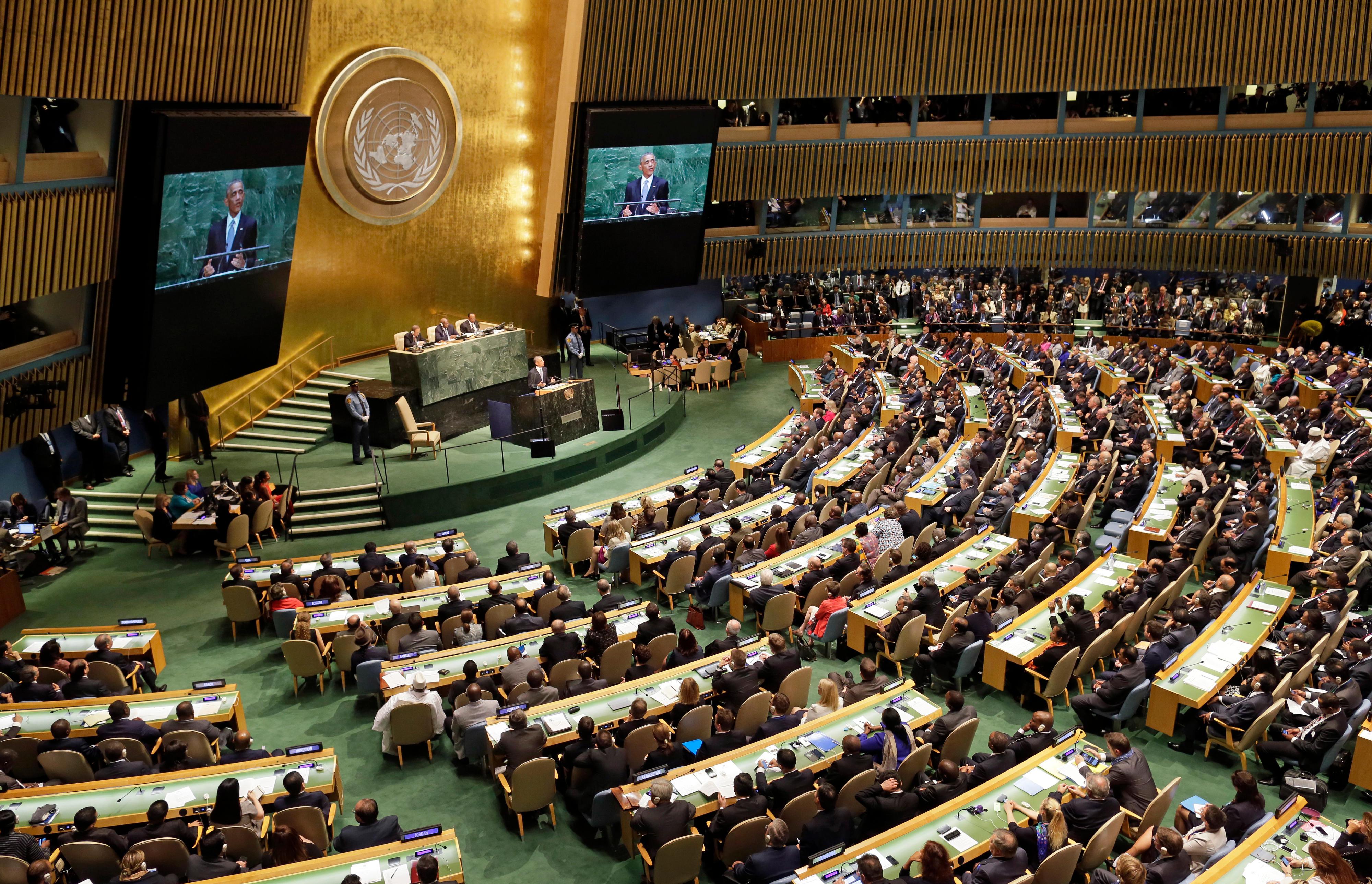 Generalversammlung der Vereinten Nationen im UN-Hauptquartier in New York