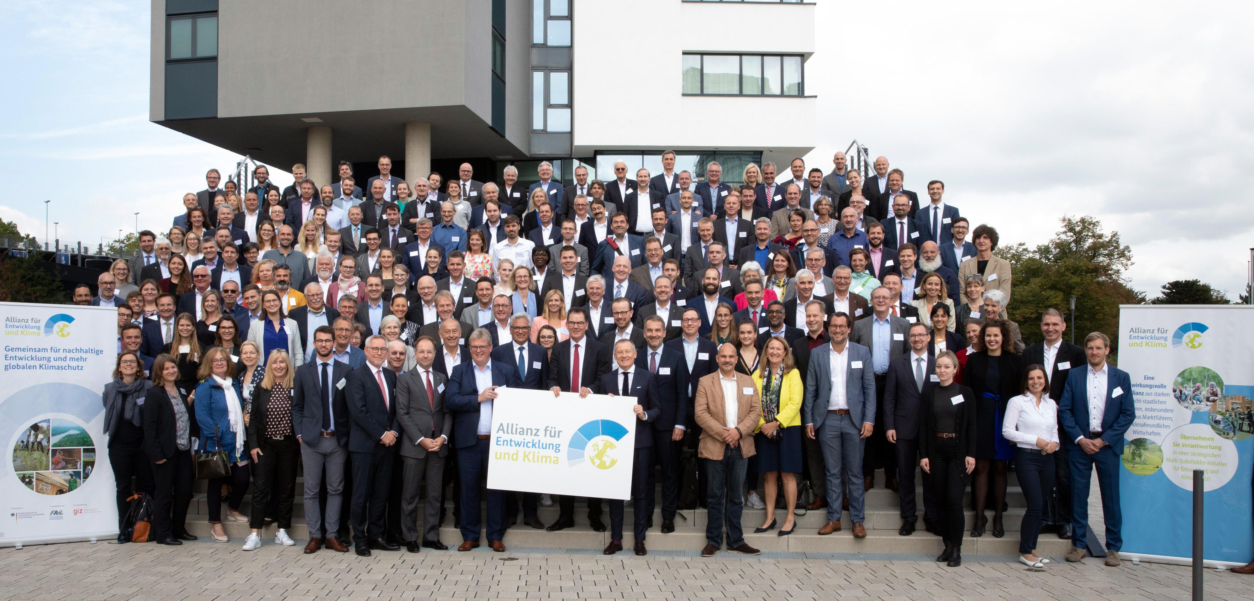 Bundesentwicklungsminister Gerd Müllerauf dem Treffen des Unterstützerkreises der Allianz für Entwicklung und Klima in Bonn, 17.09.2019.