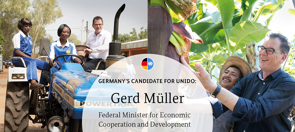 Germany's candidate for UNIDO: Gerd Müller