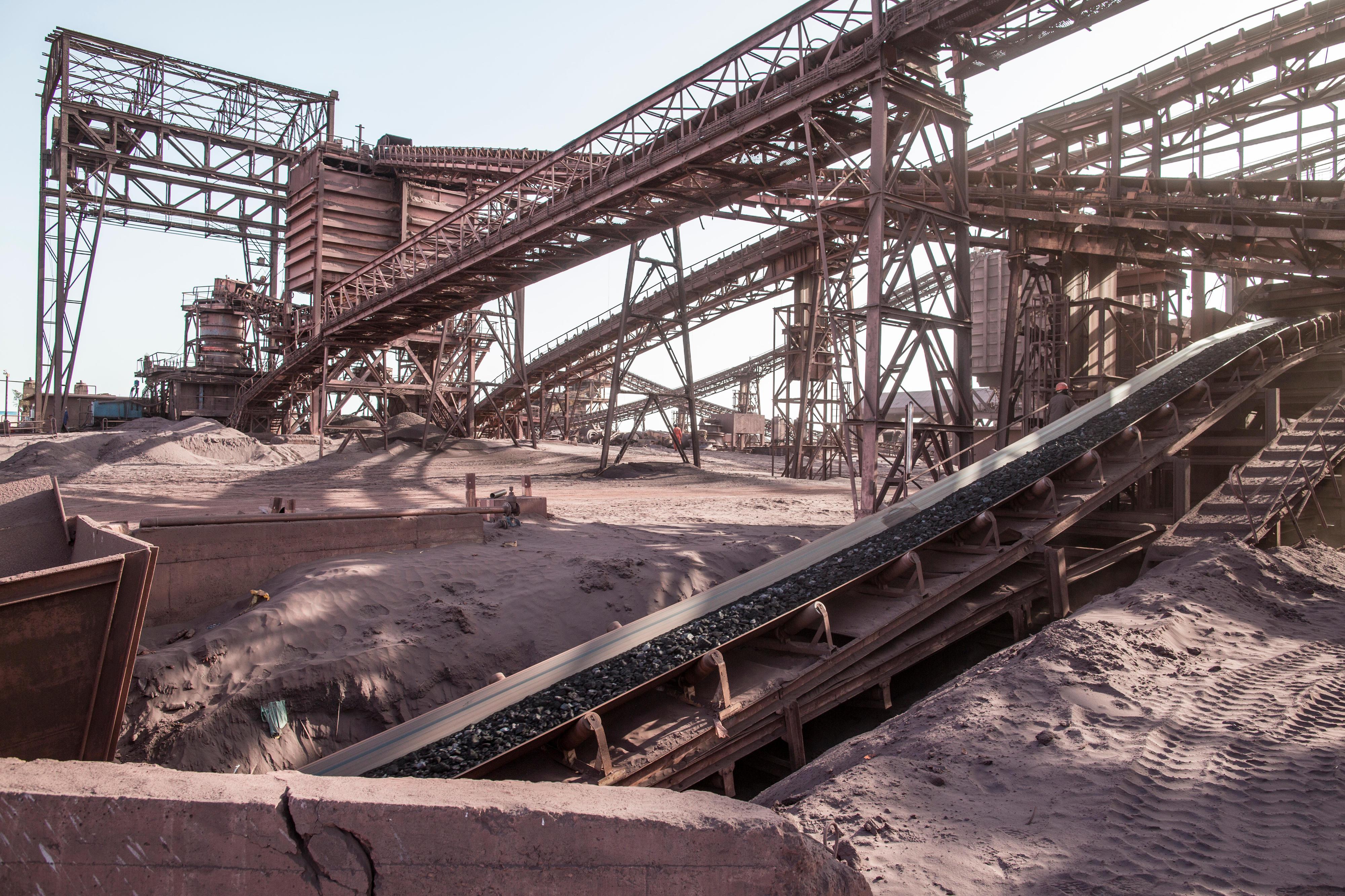 Verladezentrum eines Eisenerzunternehmens in Nouadhibou, Mauretanien