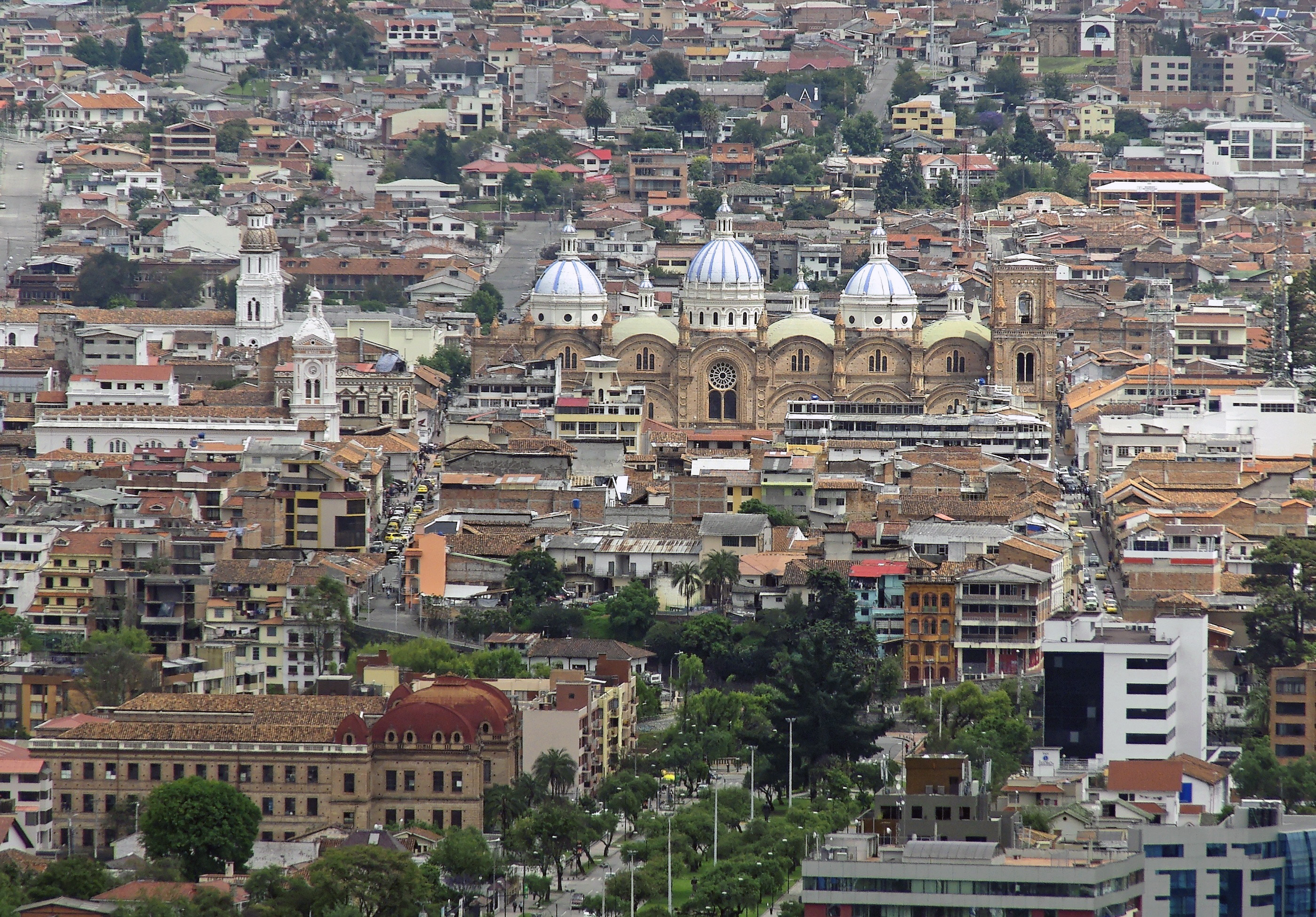 Blick auf die Stadt Cuenca in Ecuador