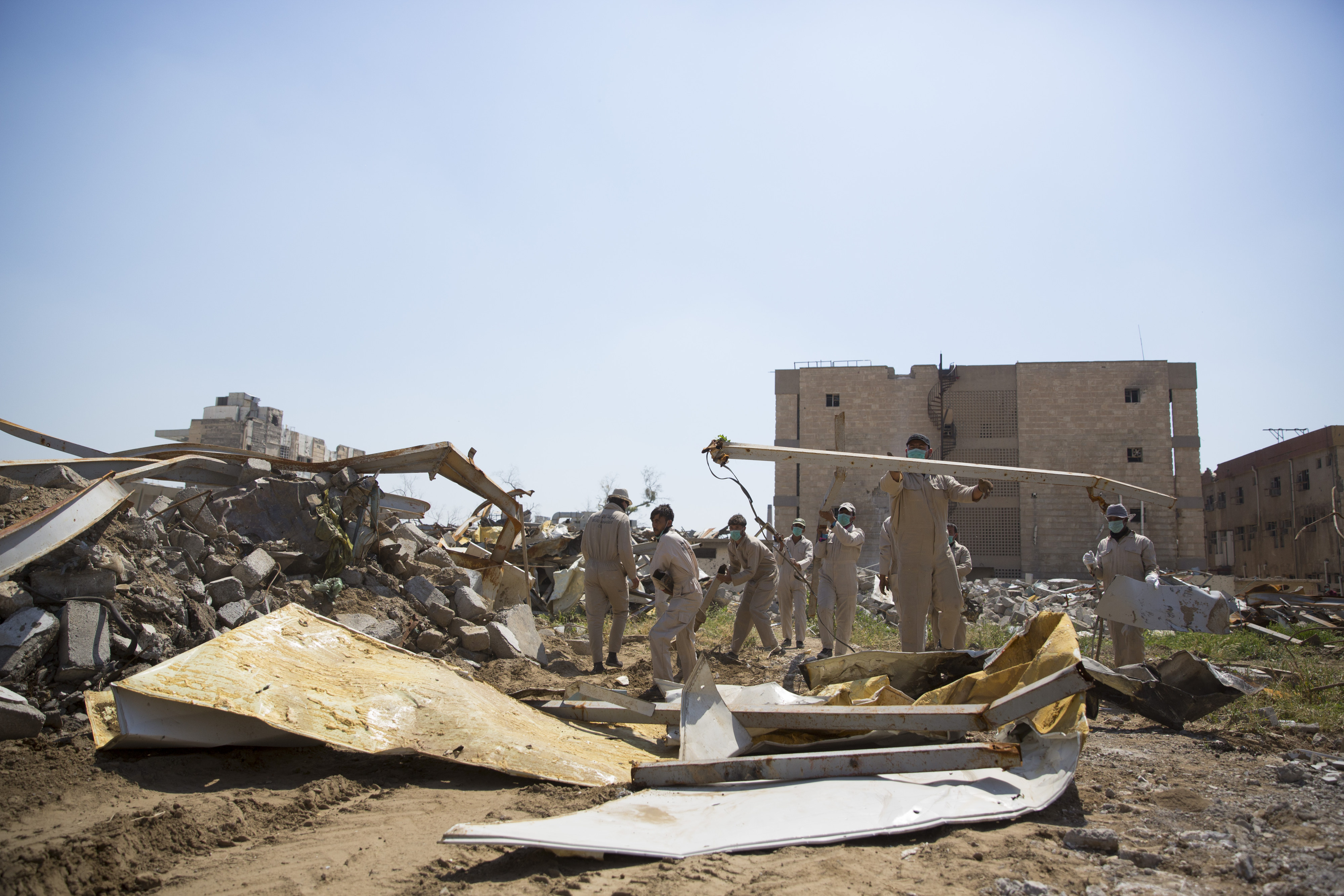 Wiederaufbau am zerstörten Al Shifaa Hospital in Mosul