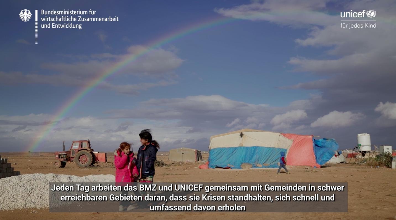 Standbild aus dem Video über die Zusammenarbeit von BMZ und UNICEF
