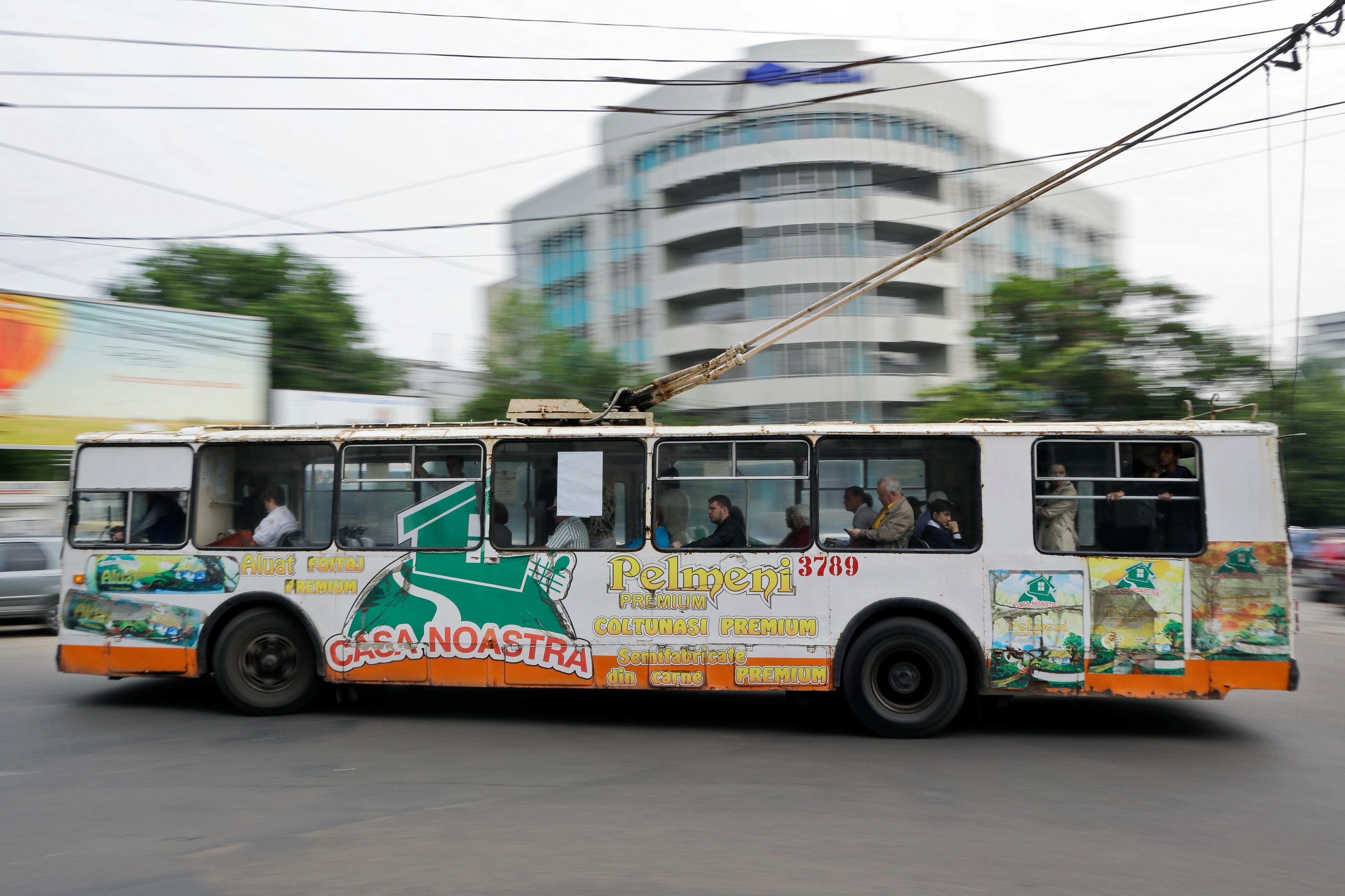 Stadtverkehr in Chisinau, Republik Moldau