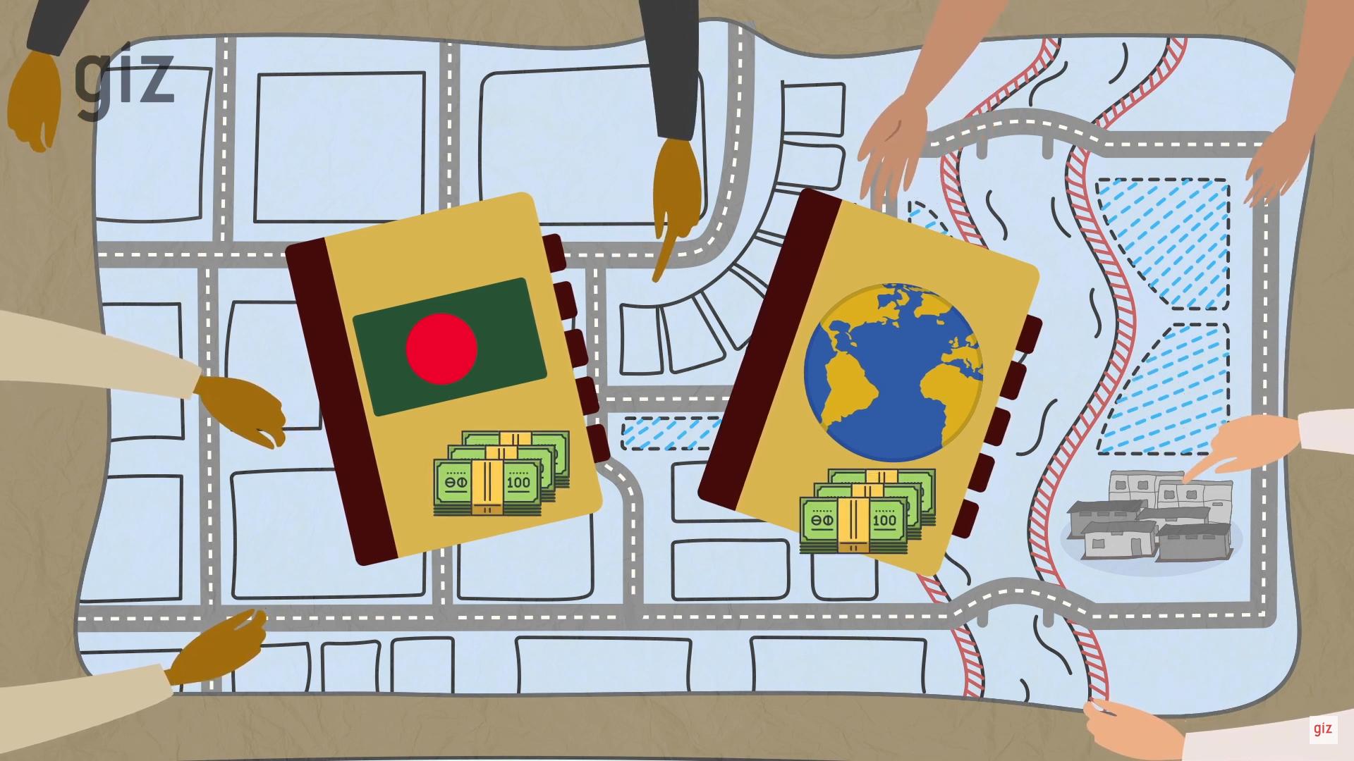 """Standbild aus dem Video""""Bangladesch: Klimaresiliente und inklusive Stadtentwicklung"""""""