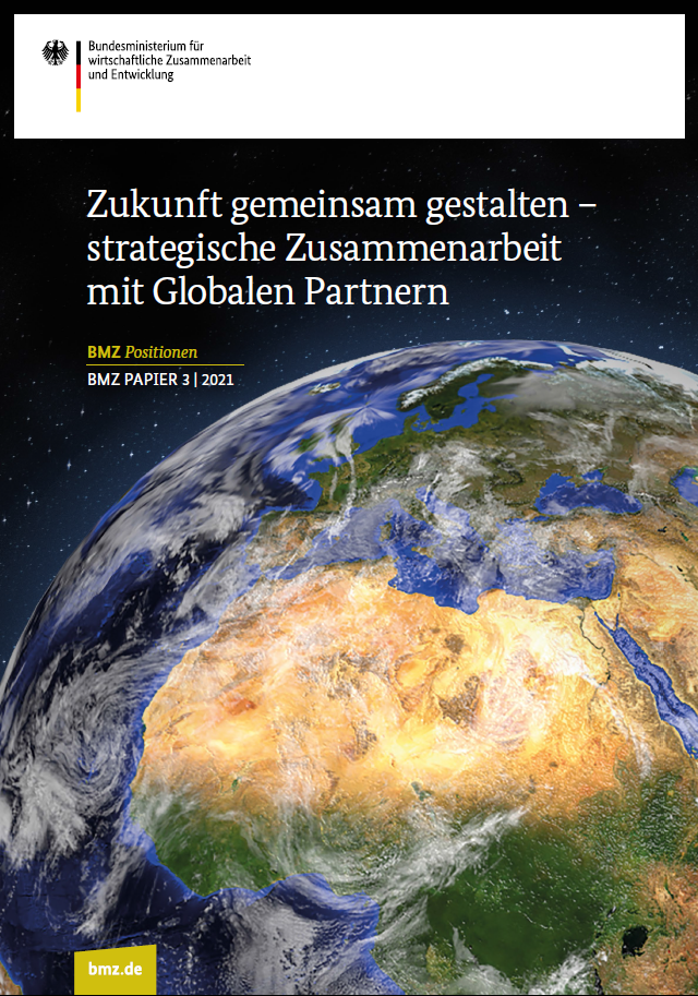 Titelblatt: Zukunft gemeinsam gestalten – strategische Zusammenarbeit mit Globalen Partnern