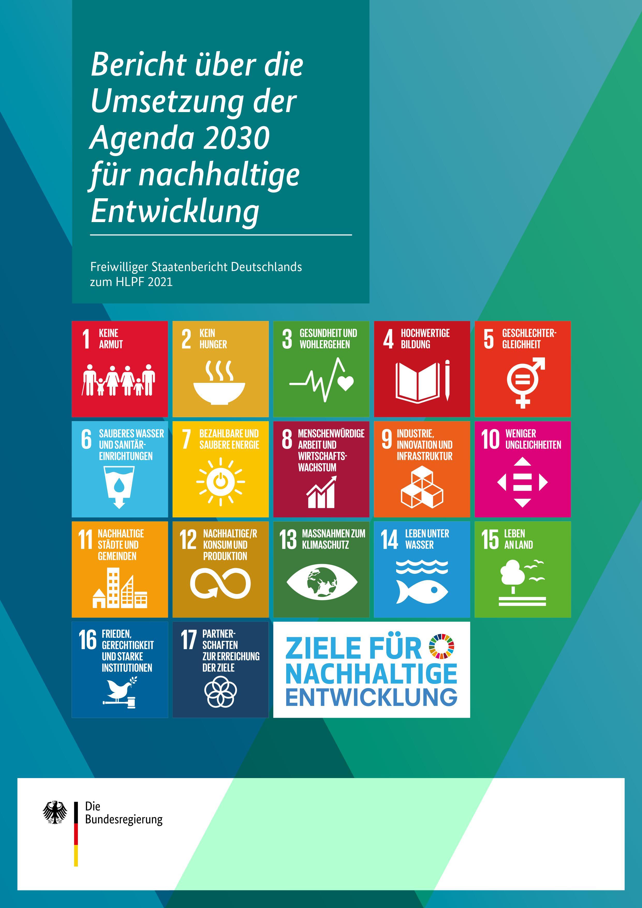 Titelblatt: Bericht über die Umsetzung der Agenda 2030 für nachhaltige Entwicklung