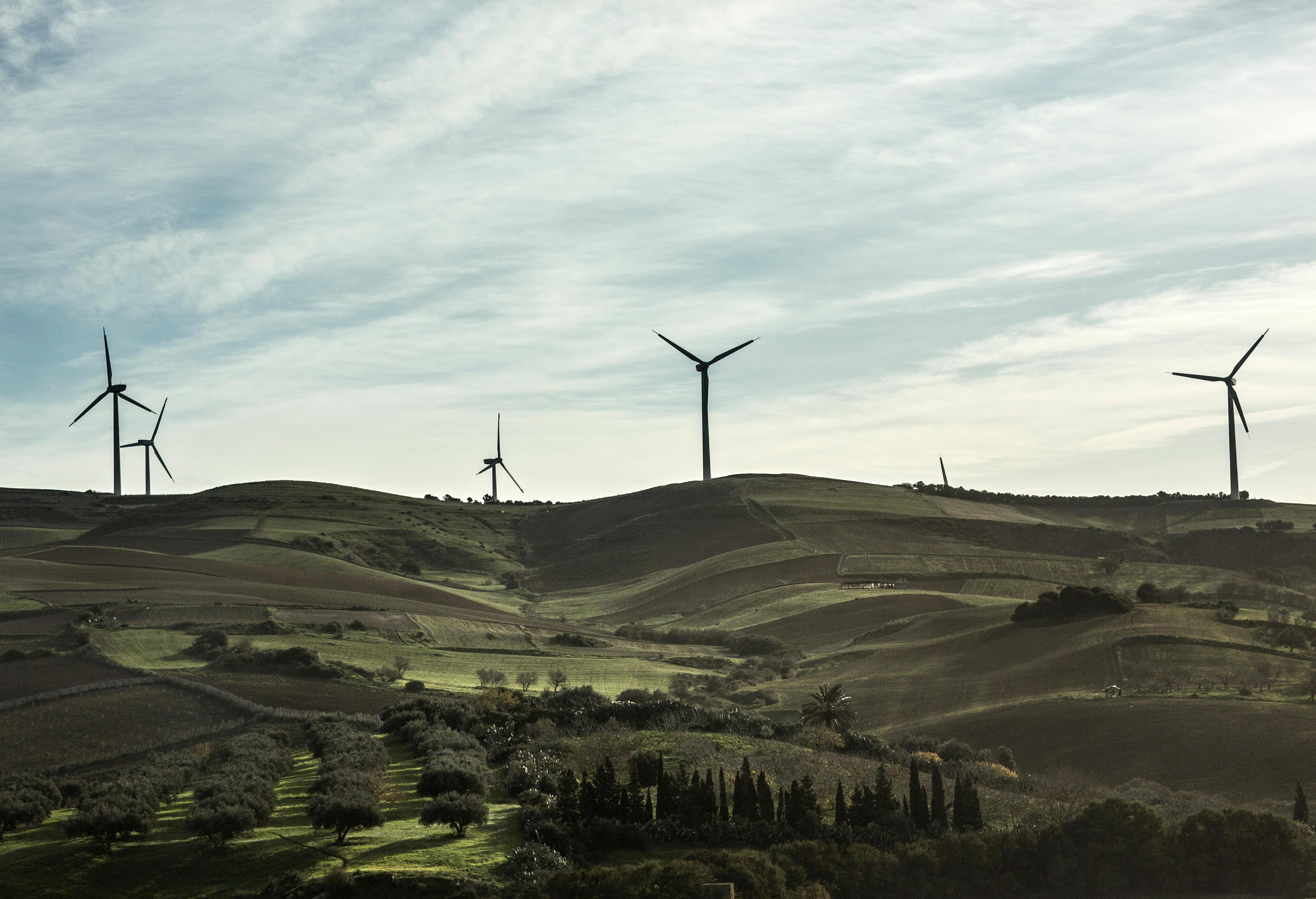 Windkrafträder in El Alia, Tunesien