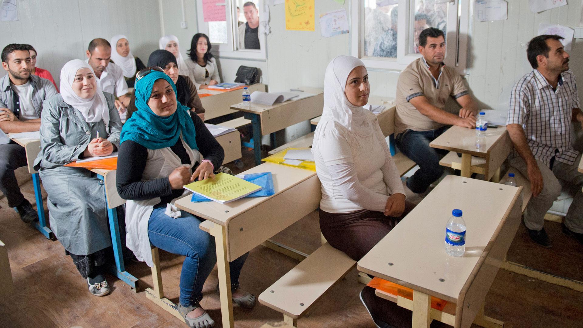 Lehrerfortbildung für Flüchtlinge in einem Camp für Binnenvertriebene in der Autonomen Region Kurdistan