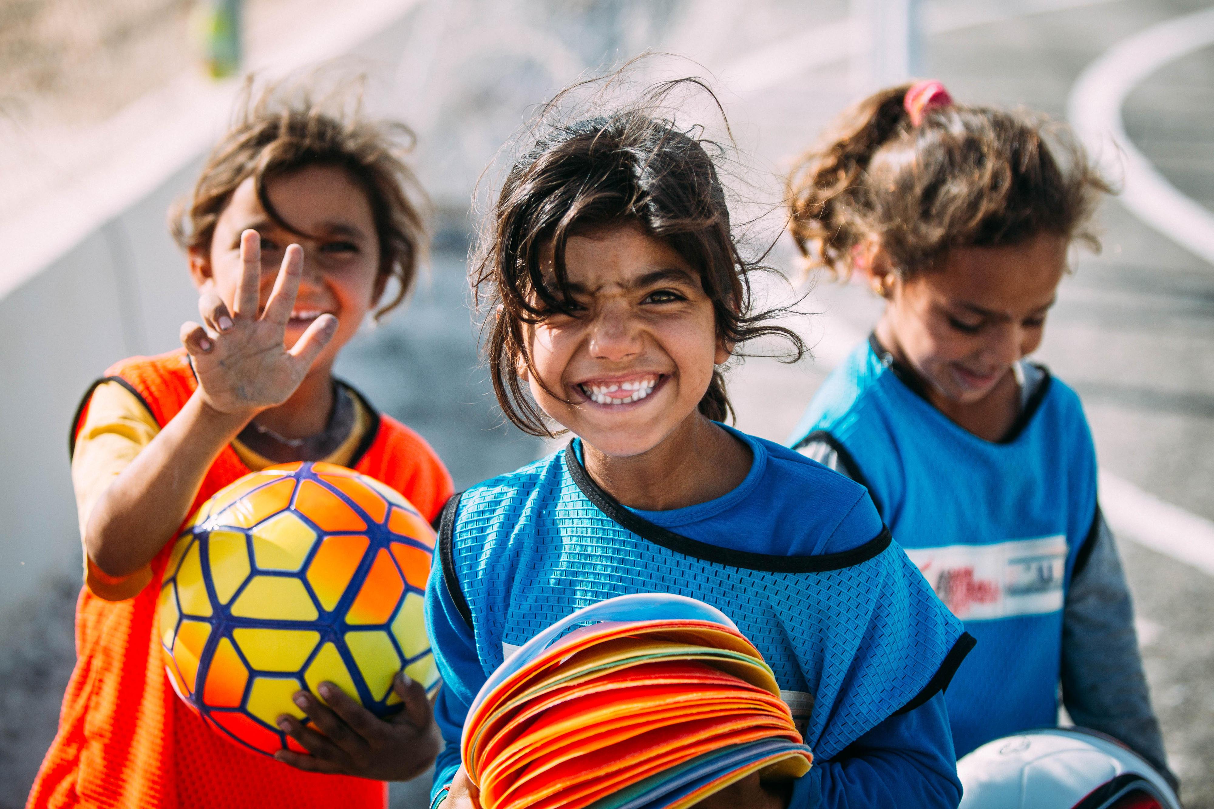 """Teilnehmerinnen des Projekts """"Sport für Entwicklung"""" in Jordanien"""