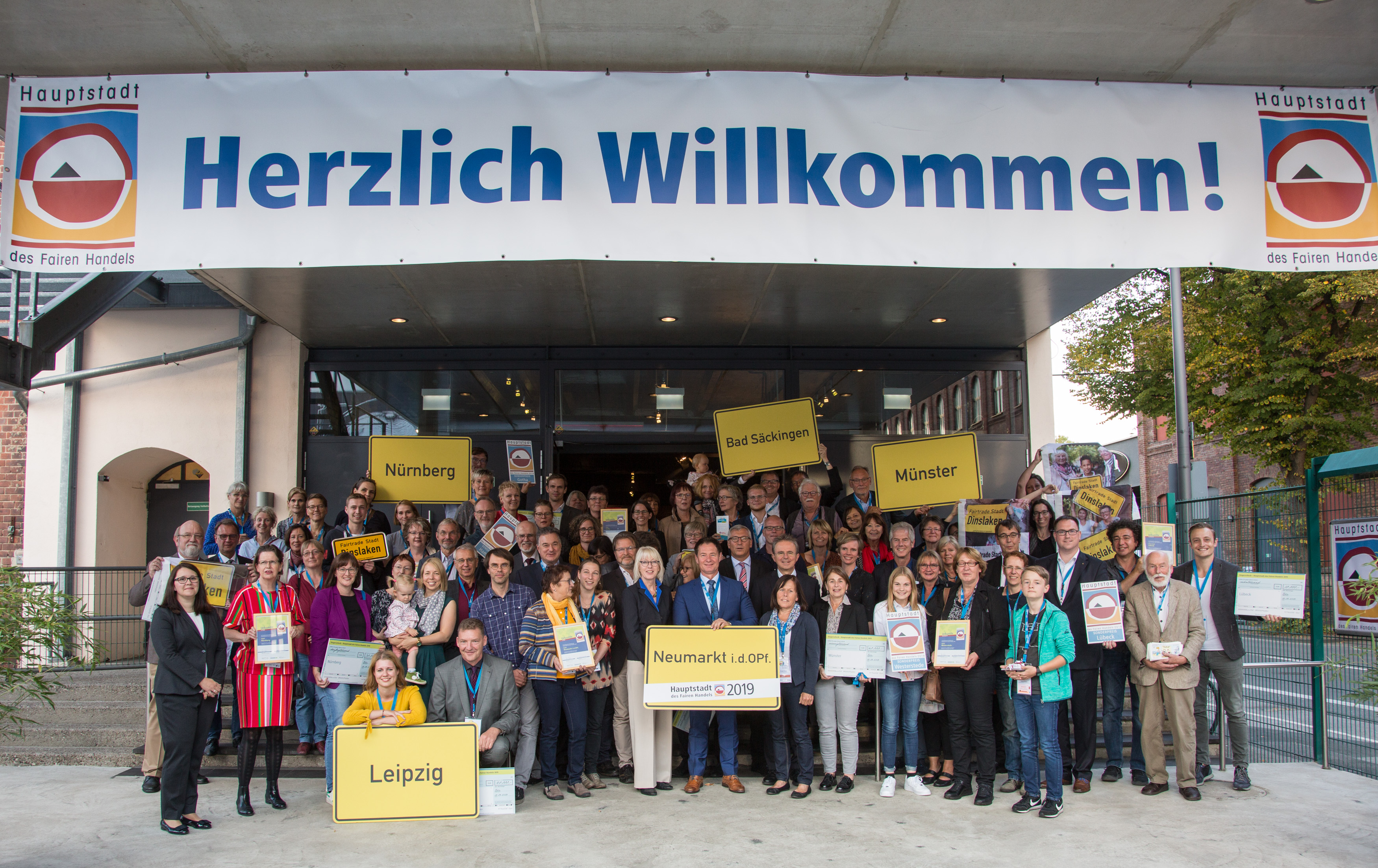 "Preisverleihung ""Hauptstadt des Fairen Handels 2019"" am 18. September 2019 im Kölner E-Werk."