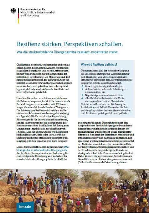 Cover Factsheet Resilienz stärken - Perspektiven schaffen