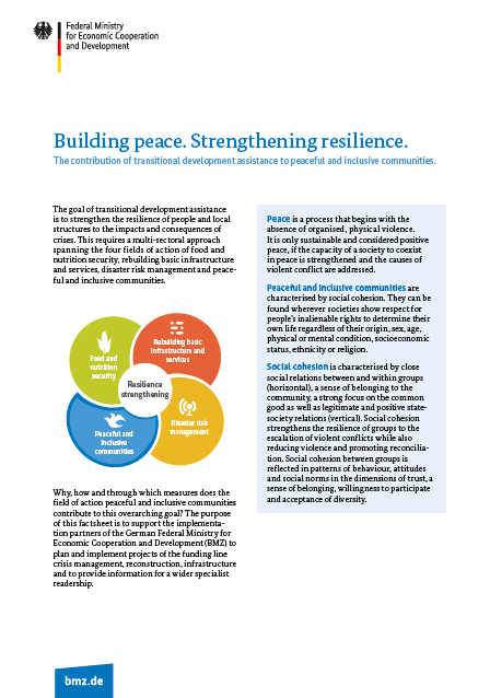 Cover factsheet Building peace strengthening resilience