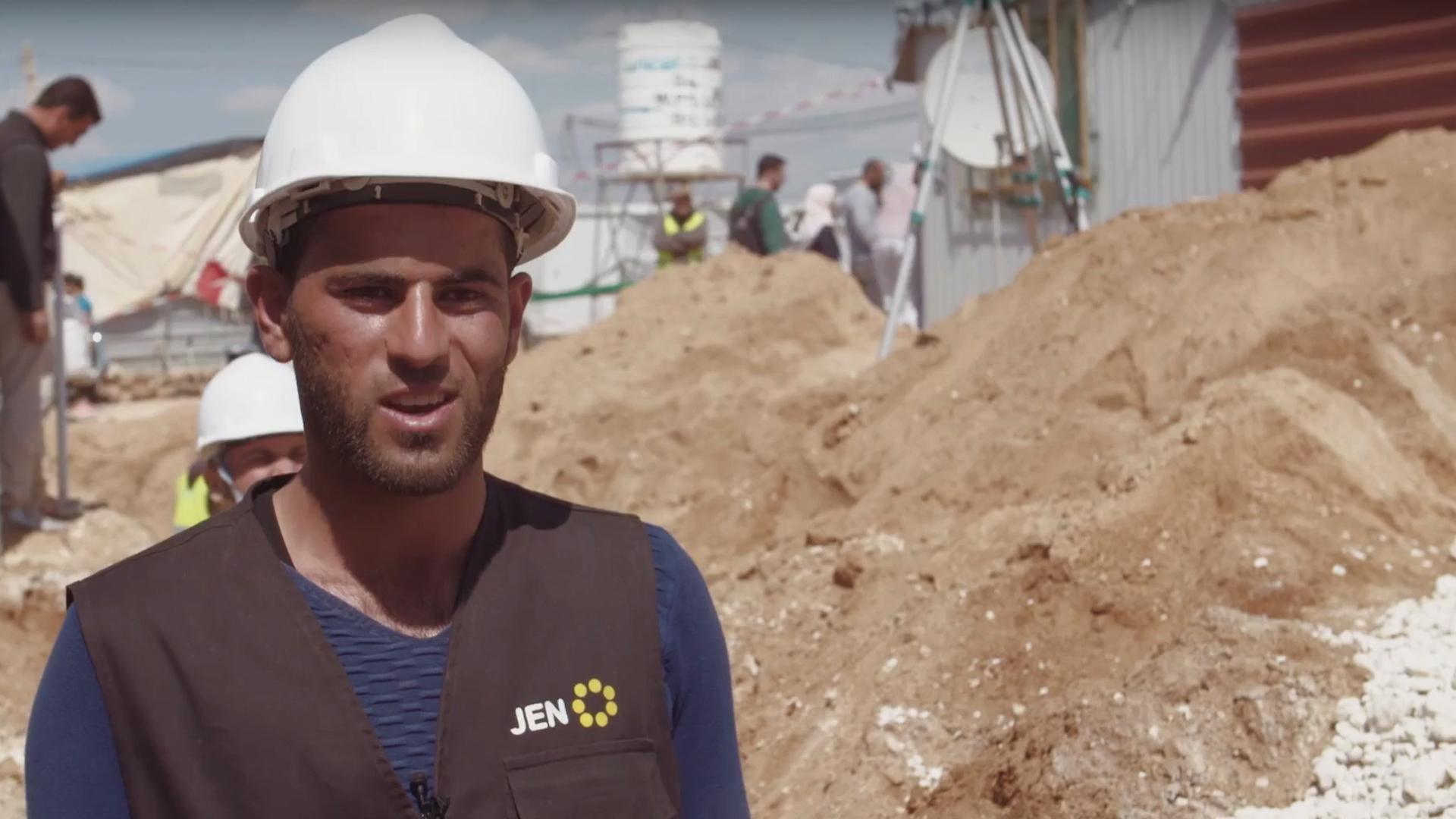 """Standbild aus dem Video: """"Portrait: Hamed aus Daraa, Syrien"""""""