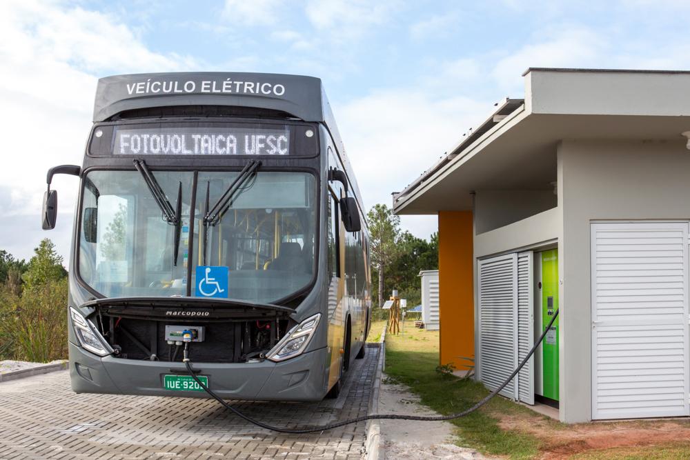 E-Bus-Ladestation in Florianópolis, Brasilien