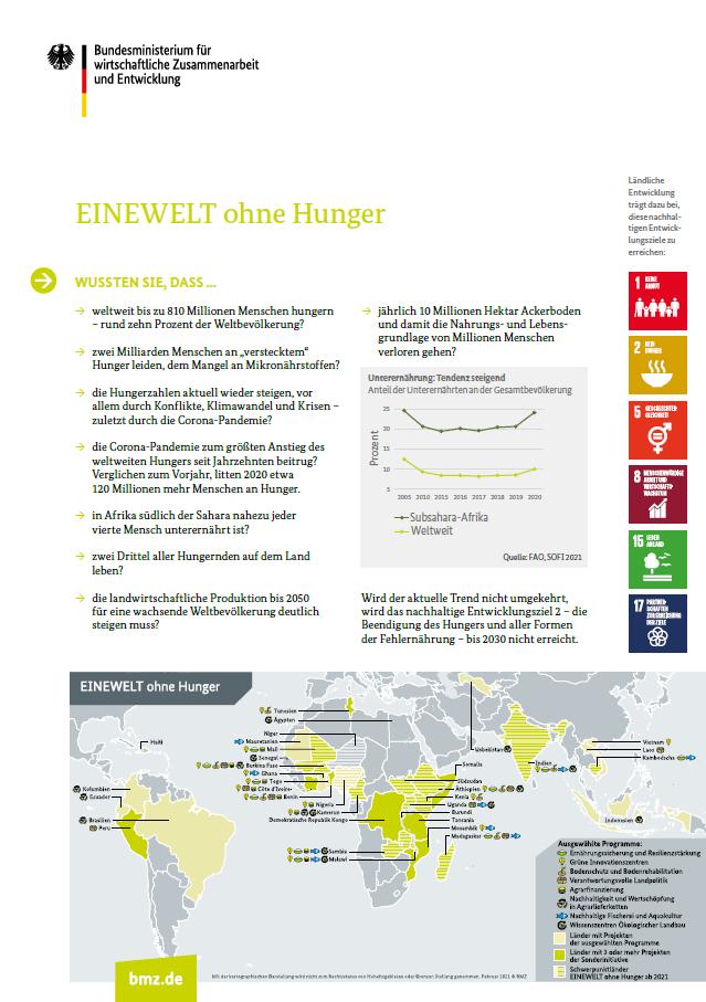 Titelblatt: EINEWELT ohne Hunger