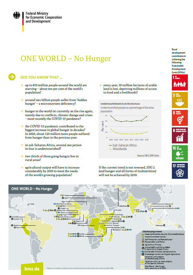 Cover: ONE WORLD – No Hunger